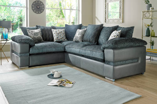 Corner Sofas in leather fabric Sofology